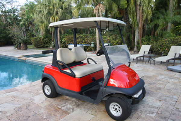 Club Car Precedent 2 Seat red