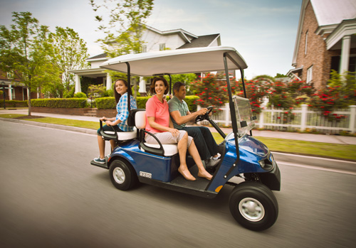 customized golf carts neighboorhood family