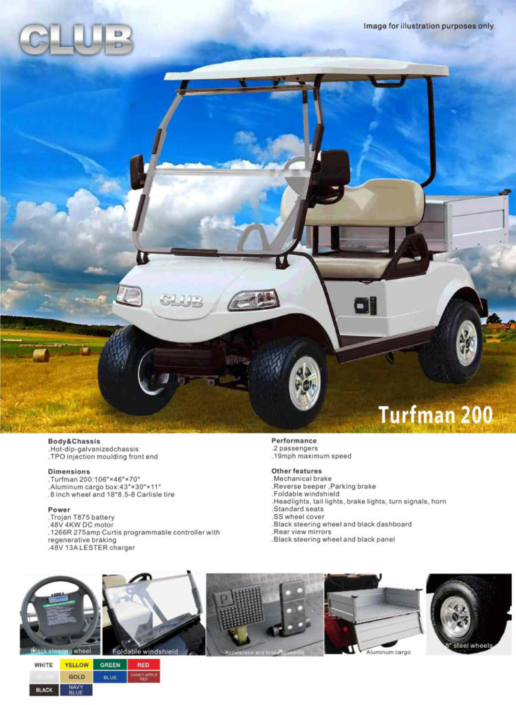 CLUB TURFMAN 200 $5,900 - MIAMI GOLF CARTS NEW AND USED