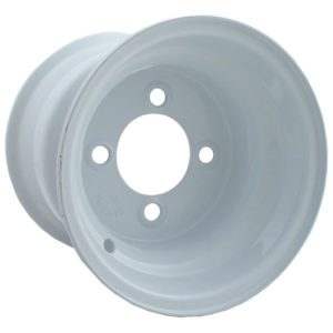 10990 8X7 White Steel Wheel