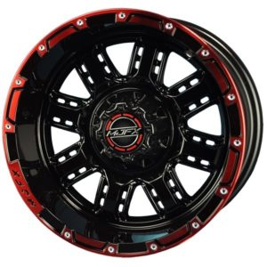 19-039 12x7 MJFX Black/Red Transformer Wheel