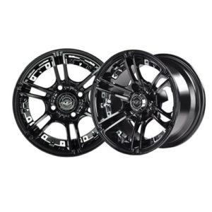 "GTW Dominator 14"" Machined & Black Wheel (3:4 Offset)"