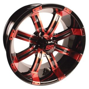 "19-143 GTW Tempest 14"" Red & Black Wheel (3:4 Offset)"