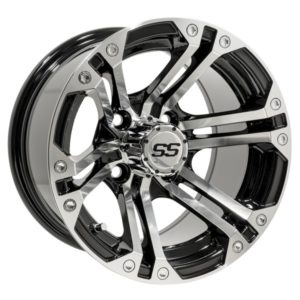 19-151 12x7 GTW Machine / Black Specter Wheel