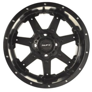 19-185 MJFX 14x7 Blackhawk Wheel, Black Satin
