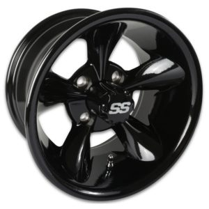40435 12X7 Godfather Black Wheel W/SS Cap (2:5 Offset)