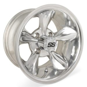 40820 12X7 Godfather Polished Wheel W/SS Cap (2:5 Offset)