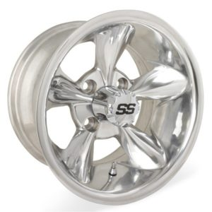 40878 10X7 Godfather Polished Wheel W/SS Cap (3:4 Offset)