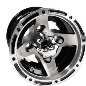 40890 8x7 3:4 Offset Ranger Machined/Black Wheel
