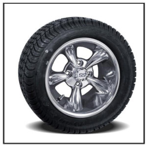 Set of (4) 10 inch Godfather Wheels on Lo-Profile Tires #A19-149