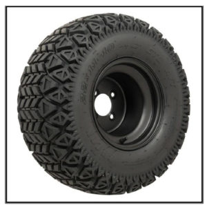 Set of (4) 10 inch Black Steel Wheels on GTW Recon A/T Tires #A19-223
