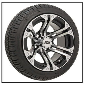 """Set Of (4) 12"""" GTW Specter Wheels On GTW Fusion Street Tires #A19-243"""