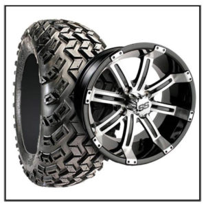 Set of (4) 12 inch GTW Tempest Wheels on All-Terrain Tires #A19-239