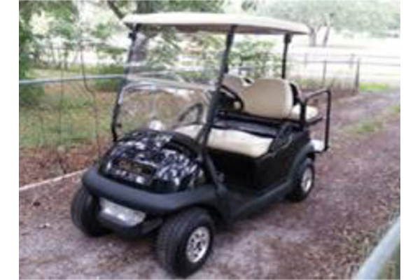 CLUB CAR SHINY BLACK 4 PASSENGERS