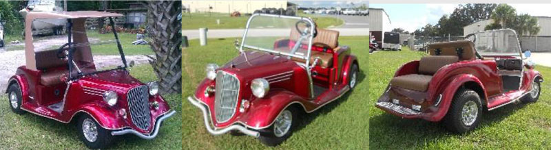 34 Roadster Coupe Custom Golf Cart