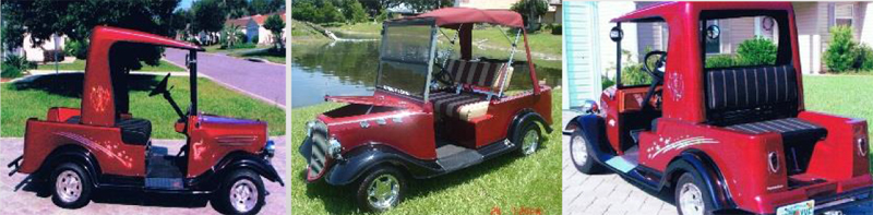34 roadster truck custom body golf cart