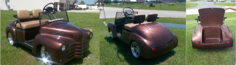 40's Old Coupe - Car custom golf cart body