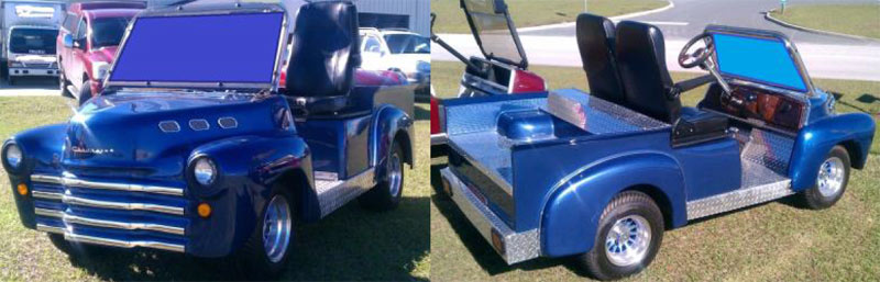 40's Old Truck custom golf cart body