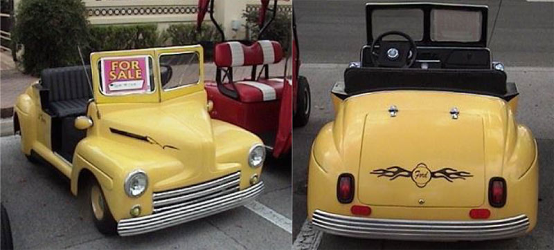 46 Old Car Coupe custom golf cart body