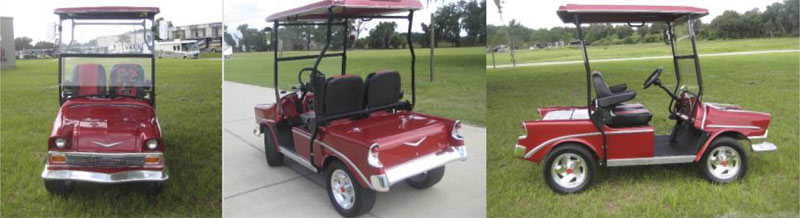56 Classic Tail – NEW MODEL custom golf cart body