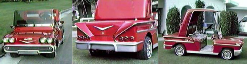 58 Impala Coupe custom golf cart body