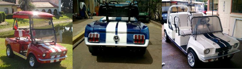 65 Hot Rod Stang custom golf cart body