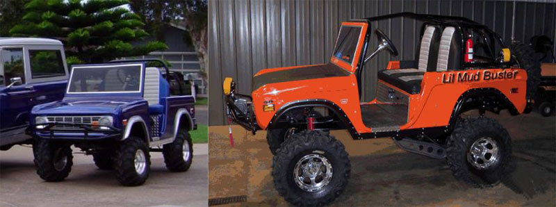 Classic Old Style Bronco custom golf cart body