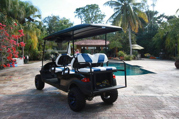 Club Car Black 6 passenger
