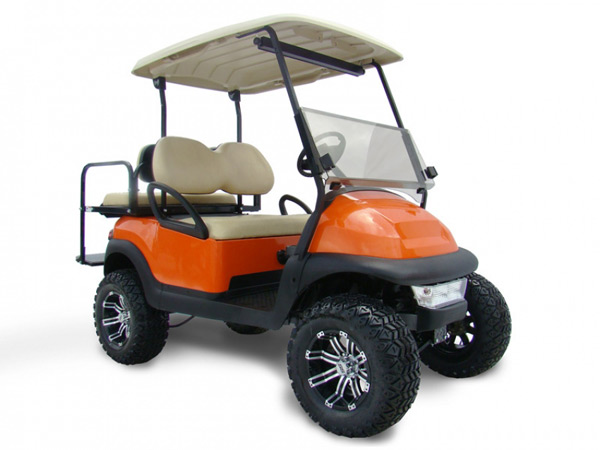 LIFTED  ORANGE GOLF CART $5,579 #457