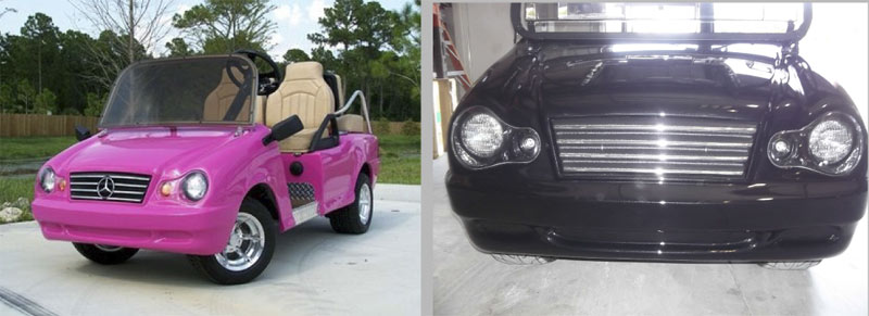 Mercedes - Front Clip Only custom golf cart body