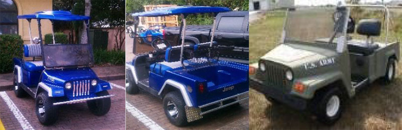 Old Style Jeep custom golf cart body