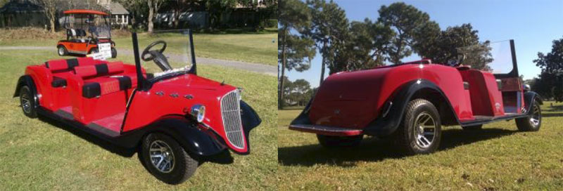 Street Rod Stretch Limo - Coupe or Truck custom golf cart body