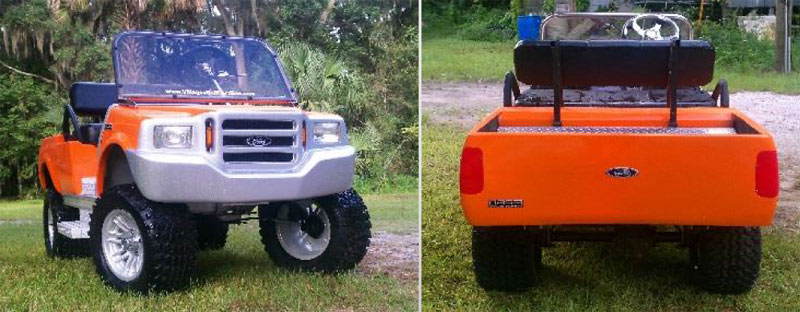 F250 Truck custom golf cart body