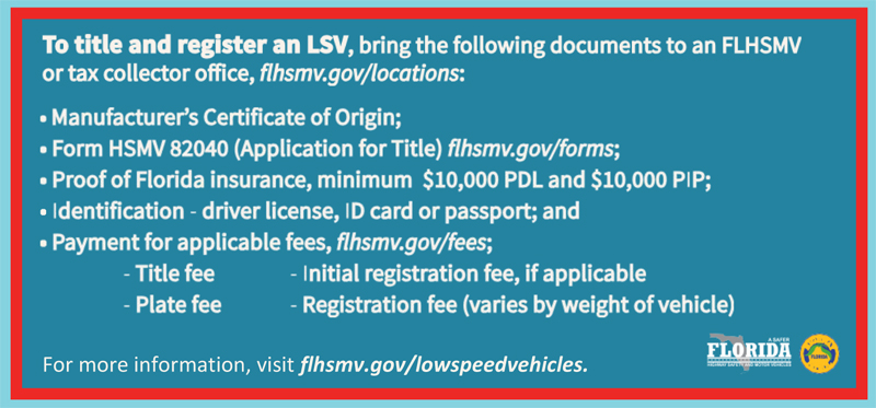 title registration low speed vehicles
