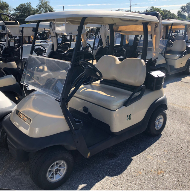 BATTERY POWERED: 2015 CLUB CAR PRECEDENT (BEIGE)