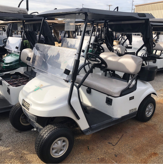 BATTERY POWERED: 2015 EZGO TXT (WHITE)