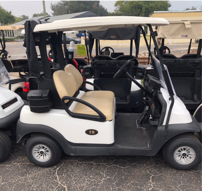 BATTERY POWERED: 2017 CLUB CAR PRECEDENT (WHITE)