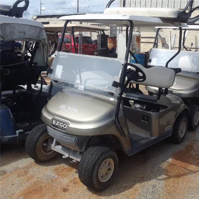 GAS POWERED: 2015 EZGO TXT (ALMOND)