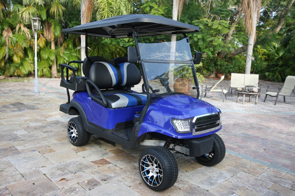 2016 Lifted Club Car Alpha Body 4 Passenger Blue