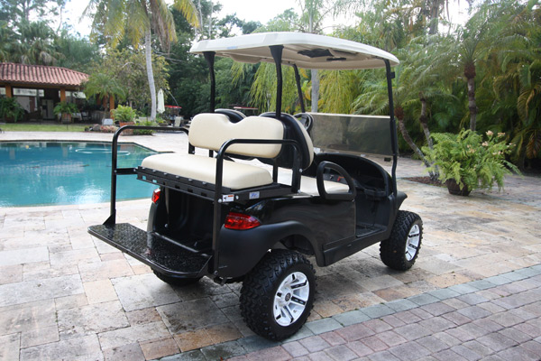 Club Car Precedent 4 Passengers Black Lifted All Terrain Tires and Wheels #302