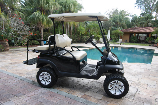 Club Car Precedent 4 Passengers Black Lifted All Terrain Tires and Wheels #449
