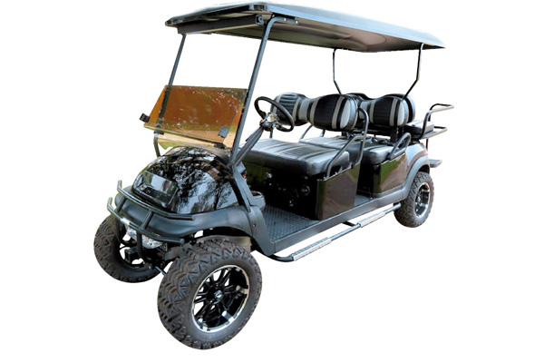 CUSTOM 2007 CLUB CAR PRECEDENT GAS POWERED SIX-PASSENGER