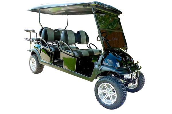 CUSTOM 2011 CLUB CAR PRECEDENT GAS POWERED SIX-PASSENGER