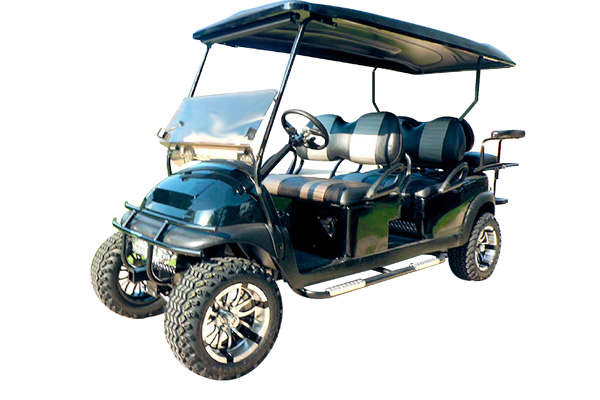 CUSTOM 2012 CLUB CAR PRECEDENT BATTERY POWERED SIX-PASSENGER