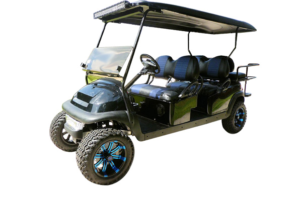 CUSTOM 2013 CLUB CAR PRECEDENT BATTERY POWERED SIX-PASSENGER