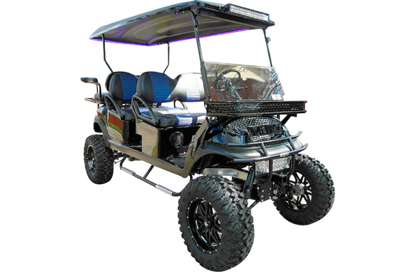 CUSTOM 2013 CLUB CAR PRECEDENT 'MONSTER' GAS POWERED SIX-PASSENGER