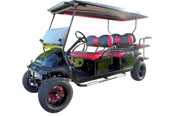 CUSTOM 2014 CLUB CAR PRECEDENT BATTERY-POWERED SIX-PASSENGER
