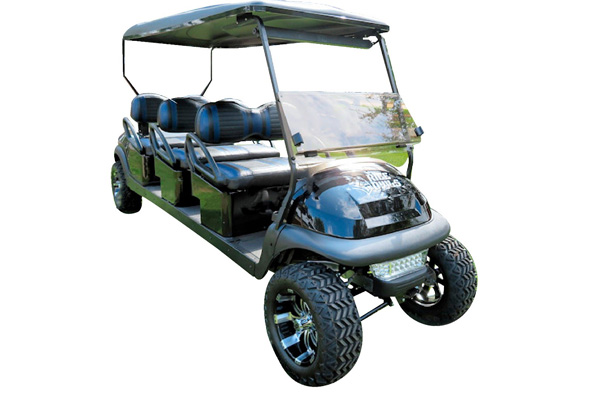 CUSTOM 2015 CLUB CAR PRECEDENT BATTERY POWERED EIGHT-PASSENGER