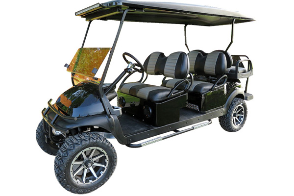 CUSTOM 2015 CLUB CAR PRECEDENT BATTERY POWERED SIX-PASSENGER