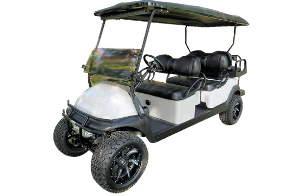 CUSTOM 2016 CLUB CAR PRECEDENT BATTERY-POWERED SIX-PASSENGER